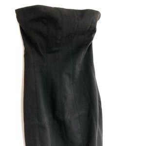 Zara Dresses - Zara Black Fitted Bodice Strapless Dress Size S